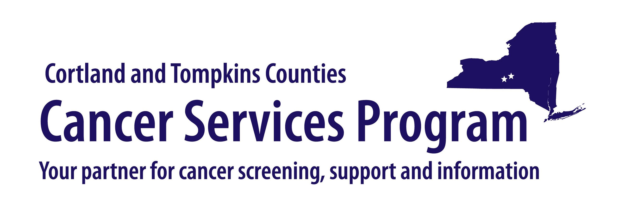 Cortland and Tompkins Counties Cancer Services Program logo