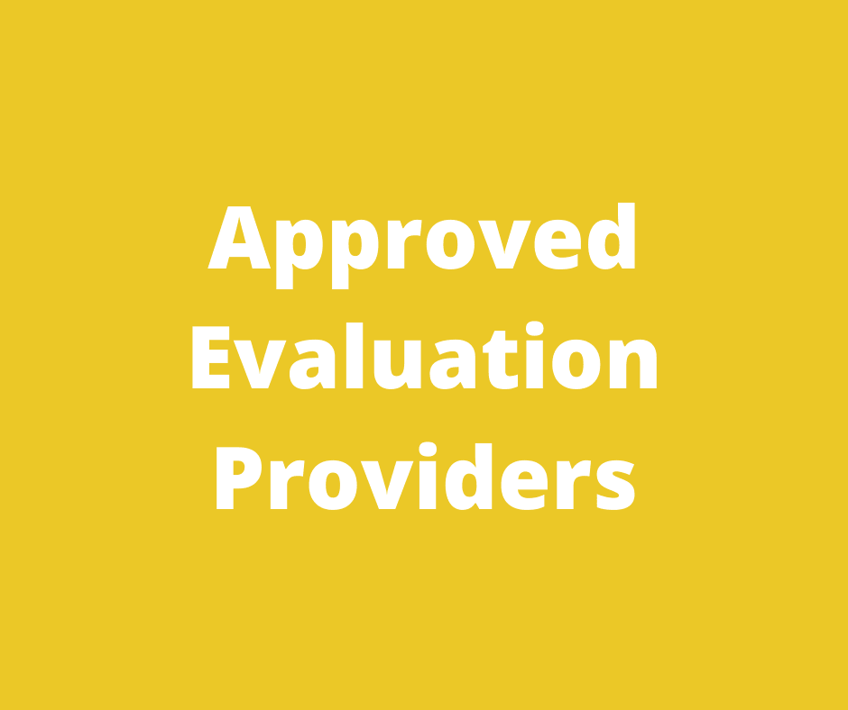 Approved Evaluation Providers